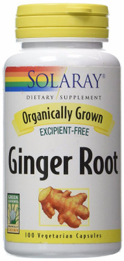 Organically Grown Ginger Root 100 VCaps Solaray