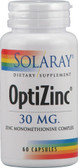 OptiZinc 30 mg 60 Caps, Solaray