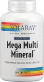 Mega Multi Mineral No Iron 200 Caps, Solaray