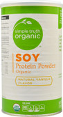 Organic Soy Protein Powder Natural Vanilla 16 oz, Simple Truth