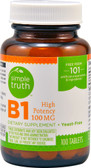 High Potency B1 100 mg 100 Tabs, Simple Truth
