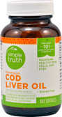 Norwegian Cod Liver Oil 100 sGels, Simple Truth
