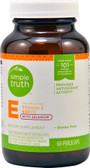 Vitamin E w/Selenium 400 IU 60 Perlecaps, Simple Truth