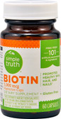 Biotin 5000 mcg 60 Caps, Simple Truth