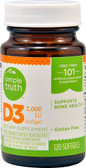 Vitamin D3 2000 IU 120 sGels, Simple Truth