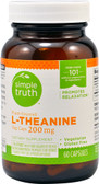 L-Theanine 200 mg Plant Sourced 60 Veg Caps, Simple Truth