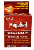 MegaRed Omega 3 Krill Oil 300 mg 30 sGels, Schiff