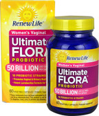 Ultimate Flora Women's Vaginal Probiotic 50 billion 60 Vegetable Caps Renew Life