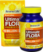 Ultimate Flora Everday Probiotic 15 billion 60 Vegetable Caps, Renew Life