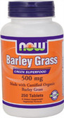 Organic Barley Grass 500 mg 250 Tabs, Now Foods