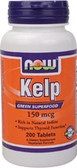 Kelp 150 mcg 200 Tabs, Now Foods, Green Superfood