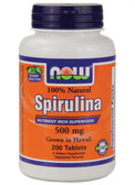 Spirulina 500 mg 200 Tabs, Now Foods