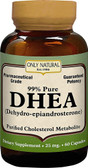 DHEA 25 mg 60 Caps, Only Natural
