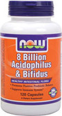 Acidophilus and Bifidus 8 Billion 120 Caps, Now Foods