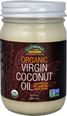Ellyndale Naturals Organic Virgin Coconut Oil 12 oz, NOW Foods
