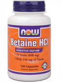 Betaine HCL10 Grain 120 Caps Now Foods, Digestion