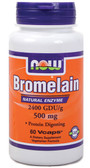 Bromelain 2400 GDU 500 mg 60 Caps Now Foods, Digestion