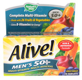 Alive! Men's 50+ 50 Tabs, Nature's Way