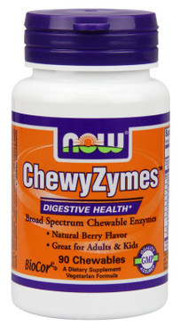 Chewyzymes 90 Chewables, Now Foods, Broad Spectrum Digestive Enzymes