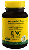 Zinc 30 mg 90 Tabs, Nature's Plus