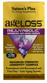 Rejuvabolic Resveratrol Anti-Aging Complex 90 Bi-Layered Tabs Nature's Plus