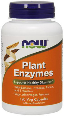 Plant Enzymes 120 Caps Now Foods, Digestion