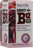 Shot-O-B12 Loz Wild Berry 5000 mcg 30 Loz, Nature's Plus