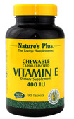 Vitamin E Chewable Carob-Flavored 400 IU 90 Tabs, Nature's Plus
