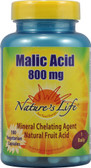 Malic Acid 800 mg 100 VCaps, Nature's Life