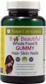 Whole Food B Hair Skin Nails Natural Apple 30 Gummies, Nature's Dynamics