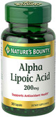 Super Alpha Lipoic Acid 200 mg 30 Caps, Nature's Bounty