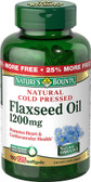 Flaxseed Oil 1200 mg 125 sGels, Nature's Bounty