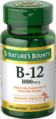 Vitamin B-12 1000 mcg 100 Tabs, Nature's Bounty