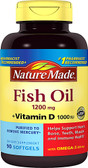 Fish Oil 1000 mg 90 Liquid sGels, Nature Made