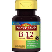 Vitamin B-12 500 mcg 100 Tabs, Nature Made