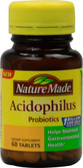 Acidophilus Probiotics 60 Tabs, Nature Made
