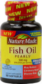 Fish Oil Pearls 500 mg 90 sGels, Nature Made