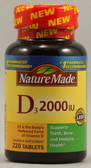 Vitamin D3 2000 IU 200 Tabs, Nature Made