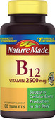 Vitamin B-12 2500 mcg 60 Tabs, Nature Made
