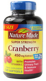 Super Strength Cranberry 450 mg 120 sGels, Nature Made