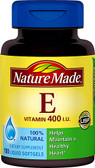 Natural Vitamin E 400 IU 100 Liquid sGels, Nature Made