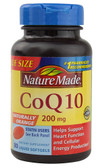 CoQ10 Naturally Orange 200 mg 80 Liquid sGels, Nature Made