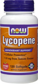 Lycopene 10 mg  120 Softgels, Now Foods