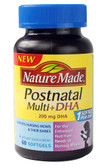 Postnatal Multi+DHA 200 mg 60 sGels, Nature Made