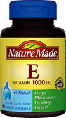 Vitamin E 1000 IU 60 Liquid sGels, Nature Made