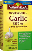 Odor Control Garlic 1250 mg 100 Tabs, Nature Made