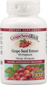 Grape Seed Extract 100 mg 60 Caps, Natural Factors