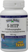 Stress-Relax 5-HTP 100 mg 120 Enteric Coated Caplets, Natural Factors