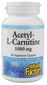 Acetyl-L-Carnitine 1000 mg 60 VCaps, Natural Factors