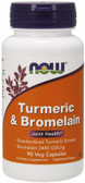 Turmeric & Bromelain 90 Caps Now Foods